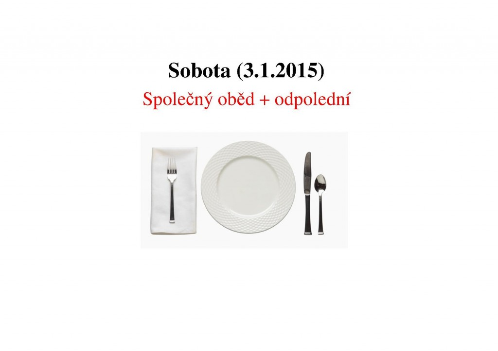 3.1.2015 Společný oběd + odpolední