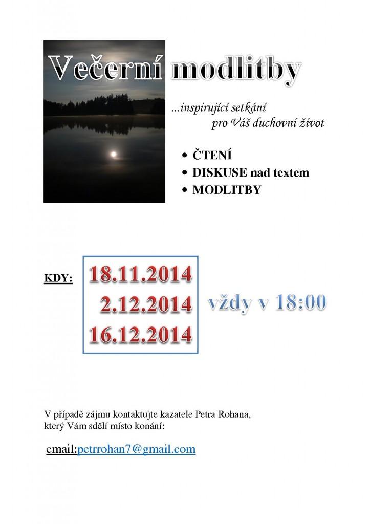 večerní MODLITBY update 31.10.2014